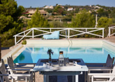 Coffee or breakfast at swimming pool of Luxury Villa Irini at Porto Heli