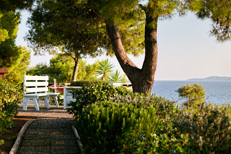 BBQ & picnic area of Luxury Villa Irini at Porto Heli