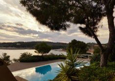 View from swimming pool of Luxury Villa Irini at Porto Heli